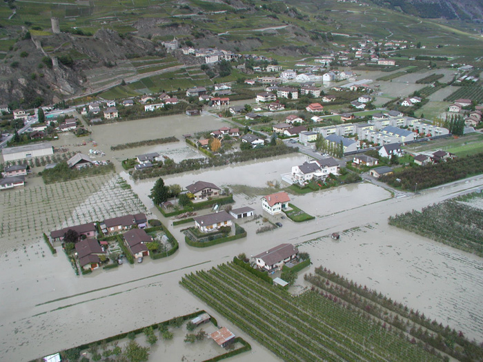Flood in Sion (Wallis, CH)